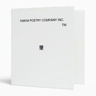 POETRY PRODUCTS BINDER