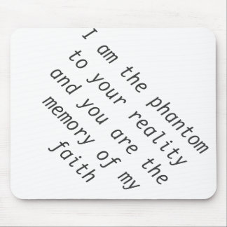 Poetry Quote Mouse Pad