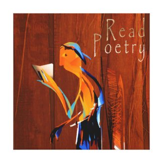 Poetry Reader Canvas Print