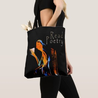 Poetry Reader Tote Bag