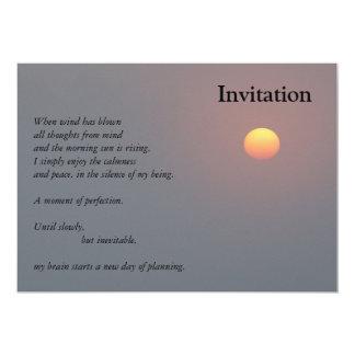 Poetry - Rising Sun Card