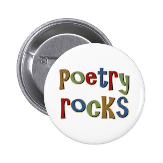 Poetry Rocks Pinback Buttons