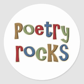 Poetry Rocks Classic Round Sticker