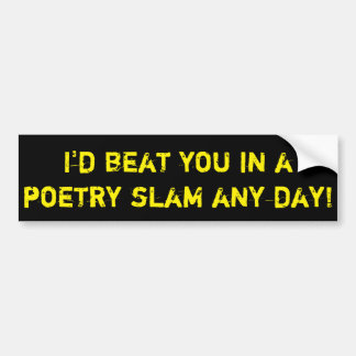 Poetry Slam Bumper Sticker