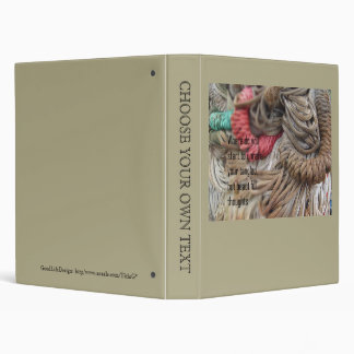 Poetry - Tangled Thoughts 3 Ring Binder