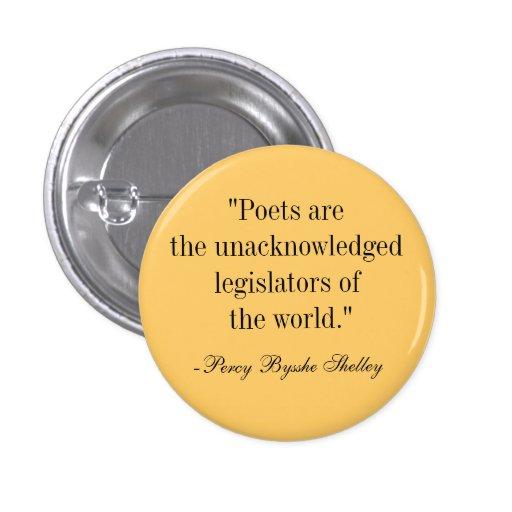 Poets 1 Inch Round Button