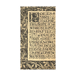Poets Are - Shelley Canvas Print