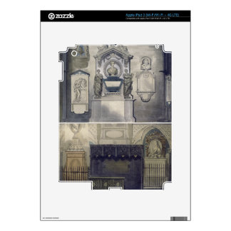 Poets' Corner, plate F from 'Westminster Abbey', e iPad 3 Decal