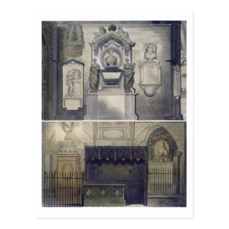 Poets' Corner, plate F from 'Westminster Abbey', e Postcard