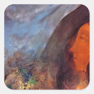 Poet's Dream by Odilon Redon Square Sticker