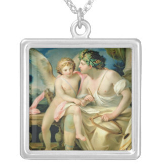 Poet's Inspiration, 1785 Silver Plated Necklace