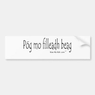 pog mo filldeah beag bumper sticker