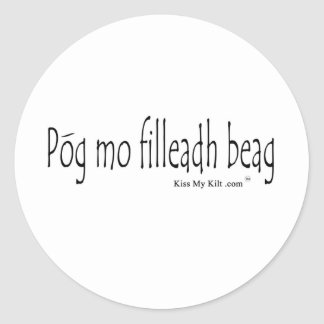 pog mo filldeah beag classic round sticker