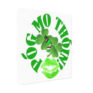 Pog mo thoin stretched canvas prints