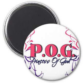 POG-Princesa de dios Imán Redondo 5 Cm