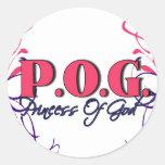 POG-Princesa de dios Pegatina Redonda