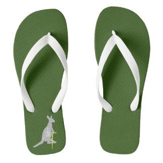 Pogo-Stick Kangaroo Flip Flops