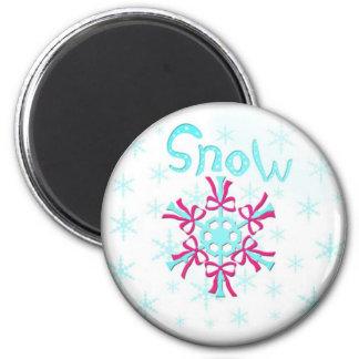 pogoda sneg3 imán redondo 5 cm
