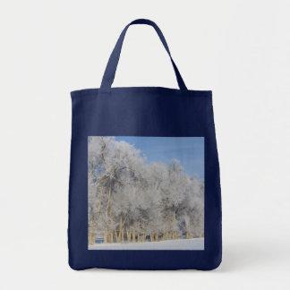 Pogonip Snow Trees Tote Bag