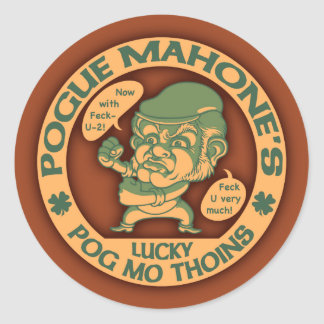 Pogue's Lucky Thoins Classic Round Sticker
