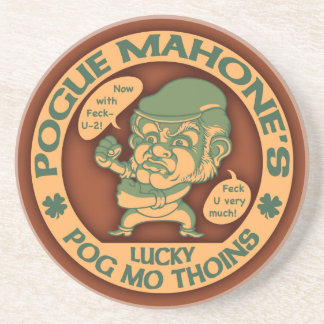 Pogue's Lucky Thoins Drink Coaster