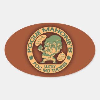 Pogue's Lucky Thoins Oval Sticker