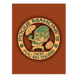Pogue's Lucky Thoins Postcard