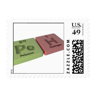 Poh as Po Polonium and H Hydrogen Stamp