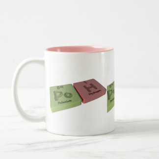 Poh as Po Polonium and H Hydrogen Two-Tone Coffee Mug