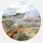 Pohutu Geyser, Rotorua, New Zealand Round Sticker
