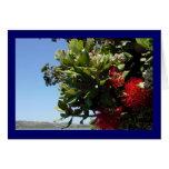 Pohutukawa Tree and Blossom Greeting Card