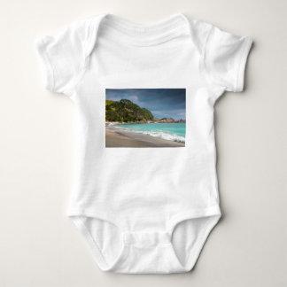 Pohutukawa trees fringe sandy beach baby bodysuit