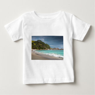 Pohutukawa trees fringe sandy beach baby T-Shirt