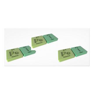 Poi as Po Polonium and I Iodine Personalized Rack Card