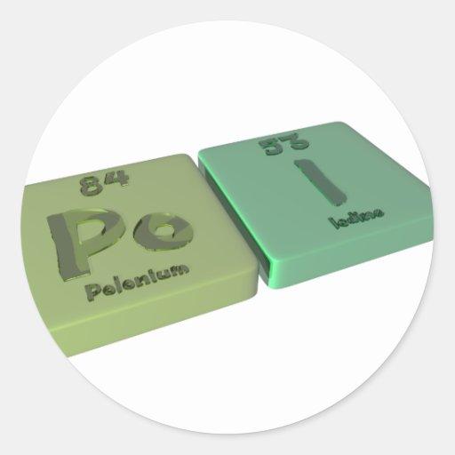 Poi as Po Polonium and I Iodine Classic Round Sticker