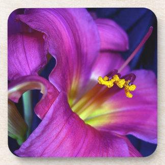 Poignant Poetic Purple Lily Drink Coaster
