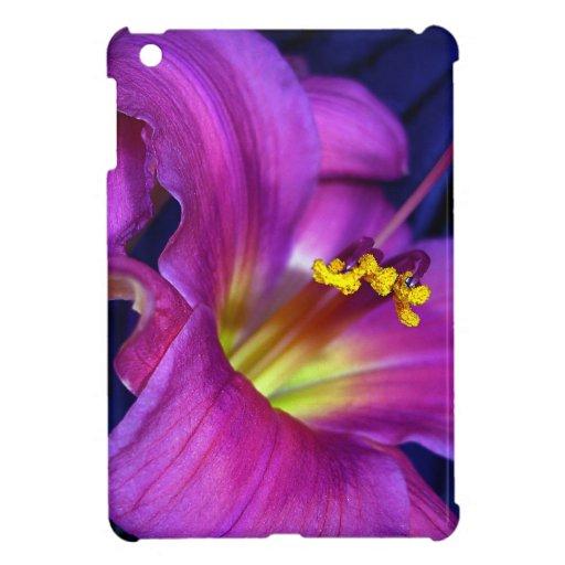 Poignant Poetic Purple Lily Cover For The iPad Mini