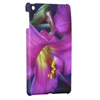 Poignant Poetic Purple Lily iPad Mini Cover