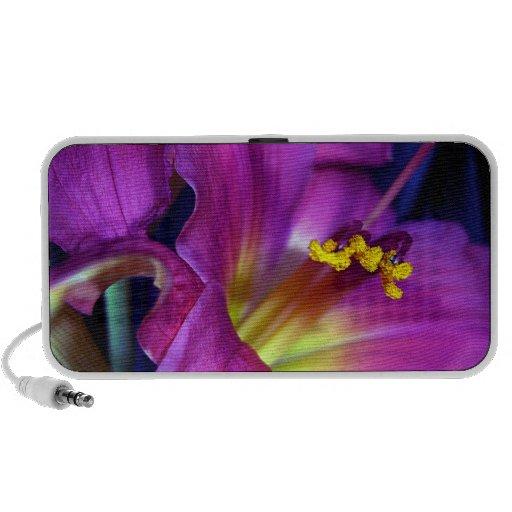 Poignant Poetic Purple Lily Travelling Speakers