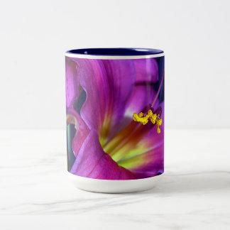 Poignant Poetic Purple Lily Two-Tone Coffee Mug
