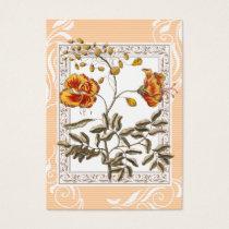 Poinciana Flame Tree Flowers Vintage Business Card
