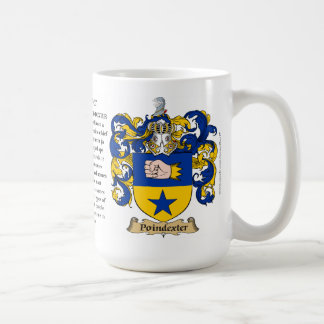 Poindexter, the Origin, the Meaning and the Crest Coffee Mug