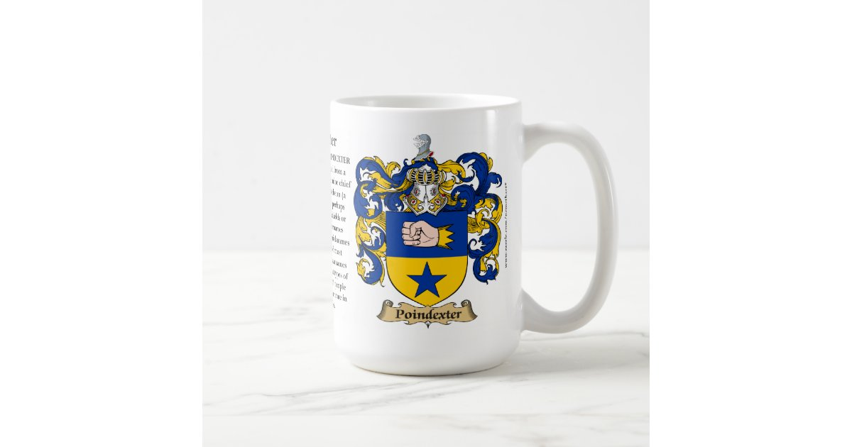 Poindexter The Origin The Meaning And The Crest Coffee Mug