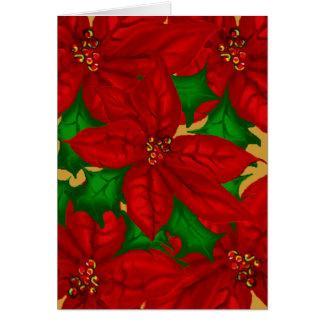 Poinsetta Bouquet Christmas Card