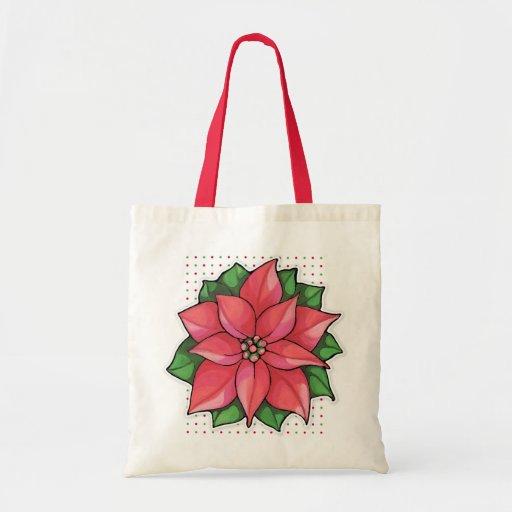 Poinsetta Joy dots Bag