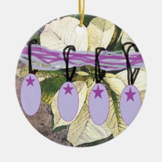 Poinsetta n' Bulbs Ornament