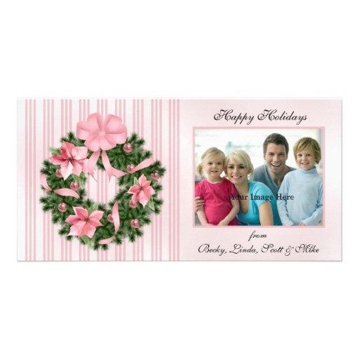 Poinsetta Wreath Photo Card
