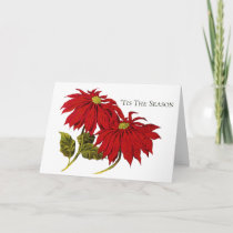 Poinsettas Christmas Greeting Card