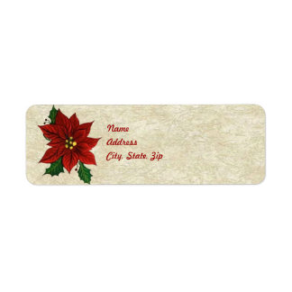 Poinsettia Address Label Template