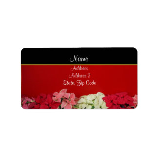 Poinsettia Address Labels